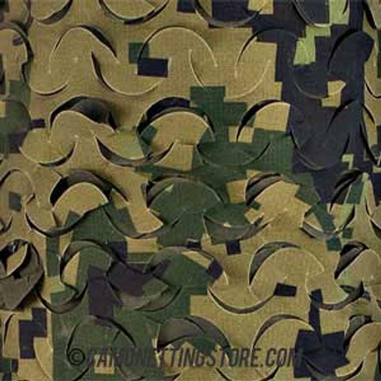 Woodland Digital Camo Netting - Pattern Closeup