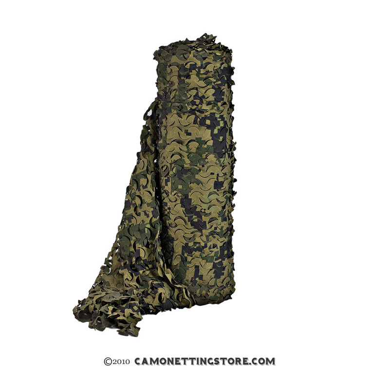 Woodland Digital Bulk Roll Camo Netting, Ultra-Lite, 3D Digital