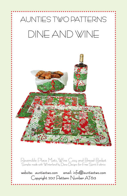 Dine And Wine Pattern By Aunties Two