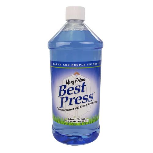 Mary Ellens Best Press Spray Starch Linen Fresh 1L REFILL (33.8 Fl Oz)