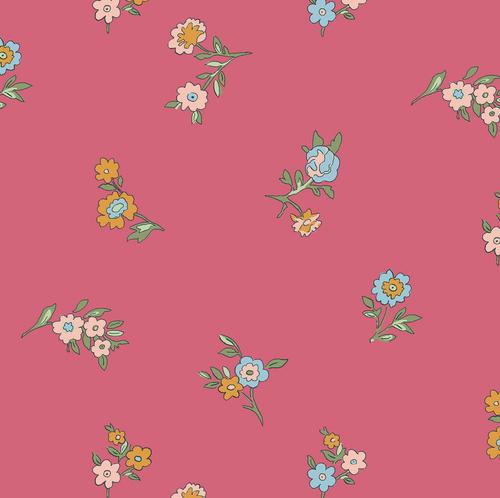 Liberty of London - Cottage Garden - Little Vine - Pink Quilting Cotton