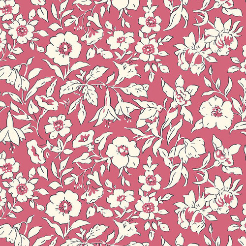 Liberty of London - Cottage Garden - Morning Dew - Pink Quilting Cotton