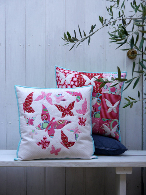Sweet Mariposa Two Cushion Pattern By Claire Turpin Design
