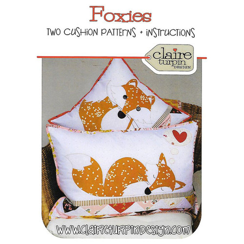 Foxies Two Cushion Pattern By Claire Turpin Design