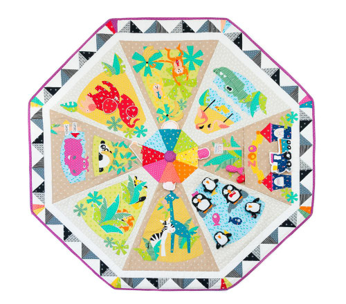 A Day at the Zoo Interactive Playmat Pattern by Sew Along