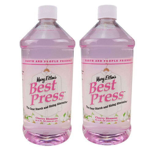 Mary Ellens Best Press Spray Starch Cherry Blossom 2 x 1000ml Refills