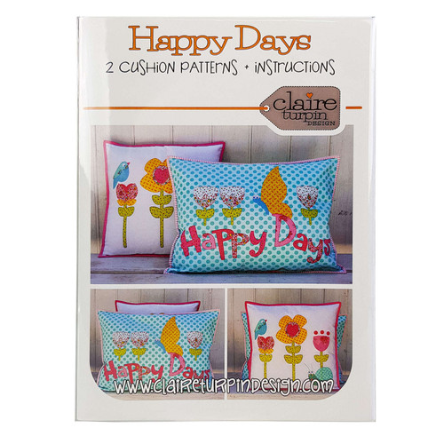 Happy Days 2 Cushion Patterns Claire Turpin Design