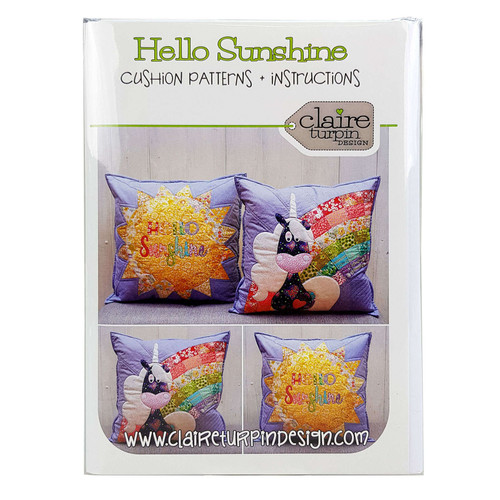 Hello Sunshine 2 Cushion Patterns By Claire Turpin Design