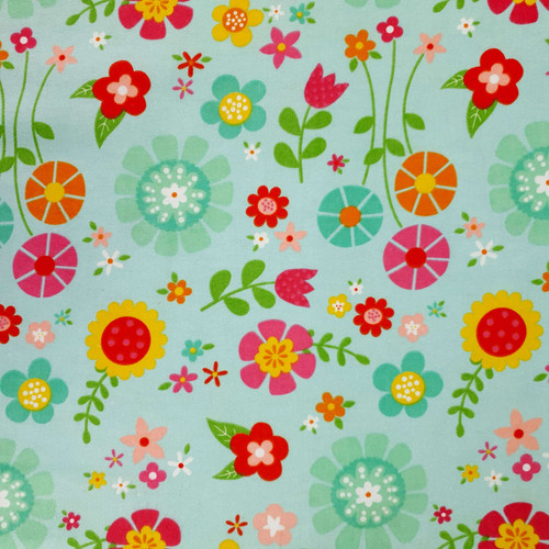 Flannel Material Bloom Where Your Planted Green Pink Yellow