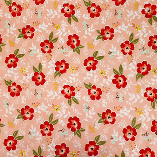Flannel Material Sweet Prairie Pink Green White