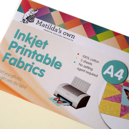 picture relating to Printable Fabric Roll titled Inkjet Printable Cloth A4 5 Sheets 210x297mm Matildas Particular