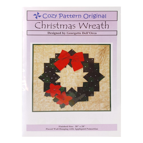 Christmas Wreath Pattern By Cozy Quilt Design