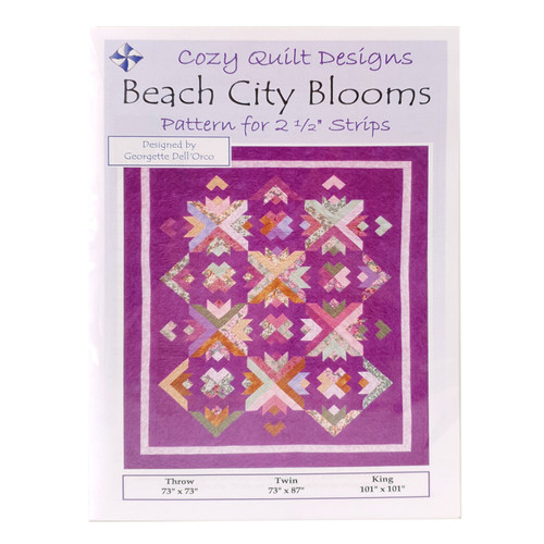 Beach City Bloom Quilt Pattern By Cozy Quilt Pattern