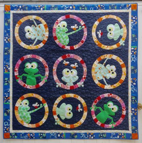 Frogface - Applique Quilt Pattern by Claire Turpin Designs