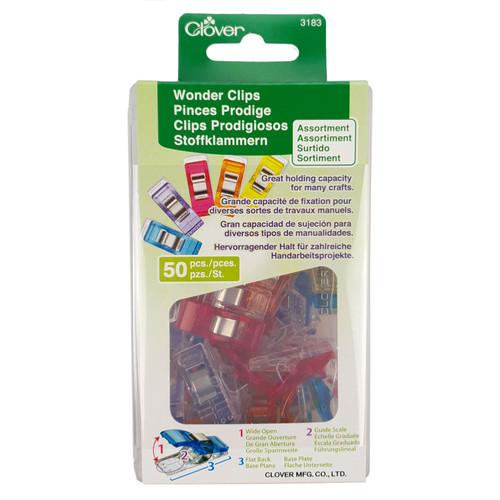 Clover Wonder Clips- Assorted Colours 50pcs