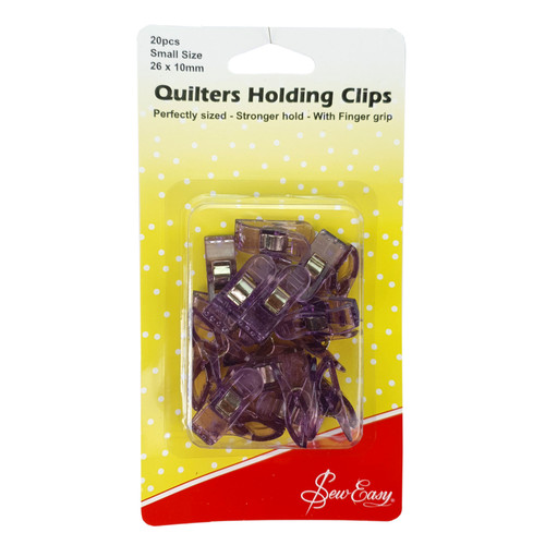 Sew Easy Quilters Holding Clips Small Size 26 x 10mm 20pcs