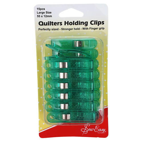 Sew Easy Quilters Holding Clips 15 Pack Large 55 x 12mm