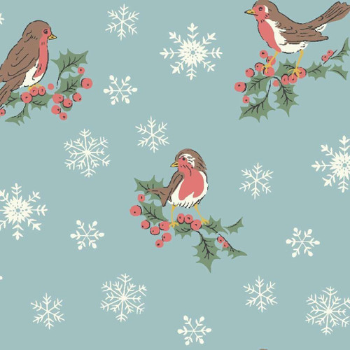 Liberty Of London A Festive Collection - Jolly Robin Blue