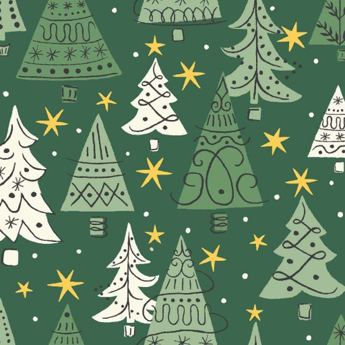 Liberty Of London A Festive Collection - Noel Forest Green
