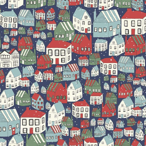 Liberty Of London A Festive Collection - Yule Town Blue