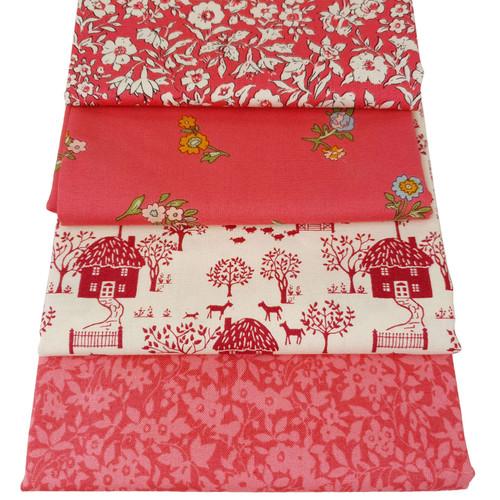 Liberty Cotton 4 x Fat Quarter Bundle Pack #1