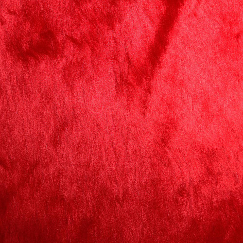 Faux Fur Red Fabric 100% Acrylic Sold by 50cm Lengths
