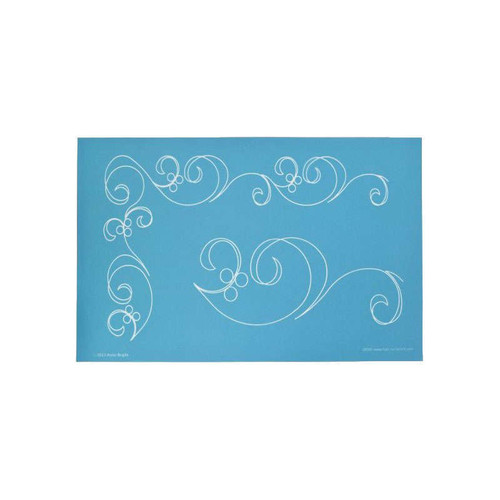 Full Line Stencil Along The Way Swirl Border By Anne Bright