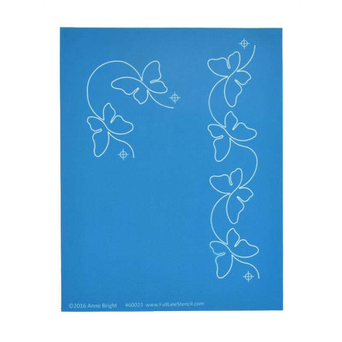 Full Line Stencil Butterfly Border With Corner 2 Inch Width