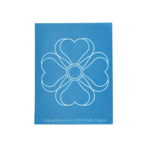 Full Line Quilting Stencil Magnolia Hearts Charm