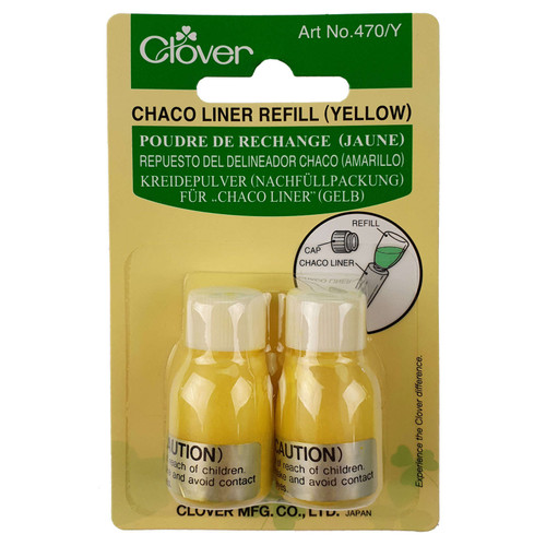 Chaco Liner Refill YELLOW Clover 2 x Bottle Refills