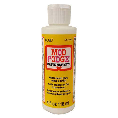 Mod Podge Matte Water Based Sealer, Glue and Finish 4 fl oz (118ml)