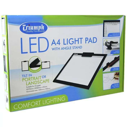 Triumph Led A4 Light Pad With Angle Stand