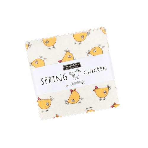 Moda Spring Chicken Mini Charm Pack by Sweetwater