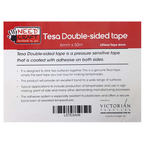 Double Sided Tesa Tape 6mm x 50m Roll