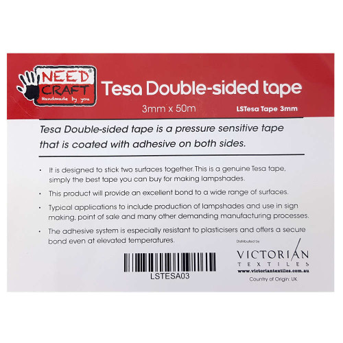 Double Sided Tesa Tape 3mm x 50m Roll