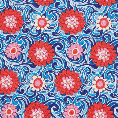 Liberty Of London Carnaby Collection - Carnation Carnival A - RETRO INDIGO