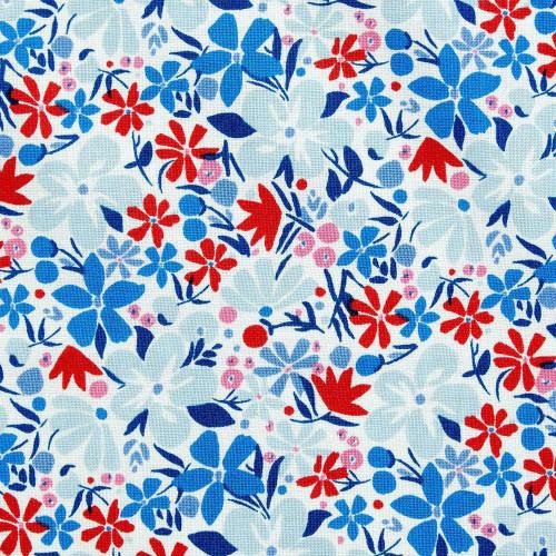 Liberty Of London Carnaby Collection - Bohemian Bloom A - RETRO INDIGO