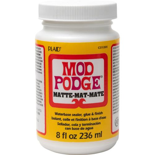Mod Podge Matte Mat Water Based Sealer, Glue and Finish 8 fl oz (236ml)