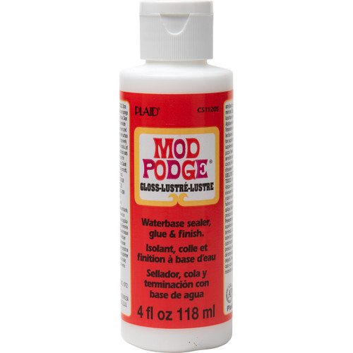 Mod Podge Gloss Lustre Water Based Sealer, Glue and Finish 4 fl oz (118ml)