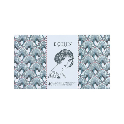 Bohin 40 Superior Quality Assorted Needles Solange - Deep Green Book