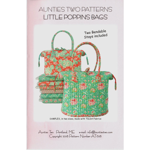 Aunties Two Little Poppins Bag 2 x Stays Included