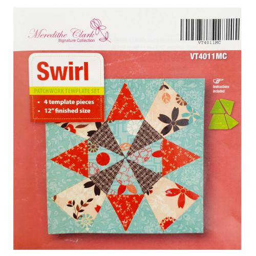 Matildas Own Swirl Patchwork Template Set Meredithe Clark Design
