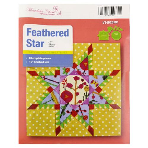 Matildas Own Feathered Star Patchwork Template Set Meredithe Clark Design