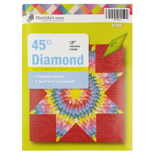 Matildas Own 45 Degree Diamond Patchwork Template