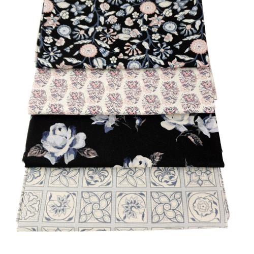 Liberty Cotton 4 x Fat Quarter Bundle Pack #10