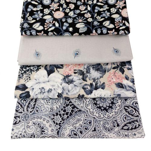 Liberty Cotton 4 x Fat Quarter Bundle Pack #13