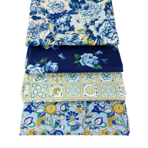 Liberty Cotton 4 x Fat Quarter Bundle Pack #15