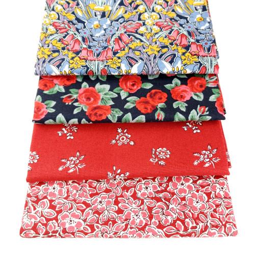 Liberty Cotton 4 x Fat Quarter Bundle Pack #16