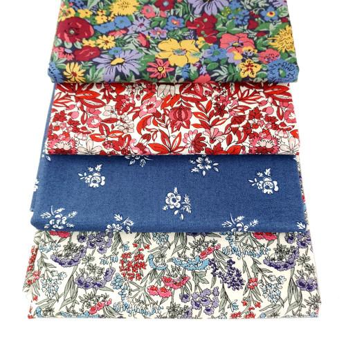 Liberty Cotton 4 x Fat Quarter Bundle Pack #17