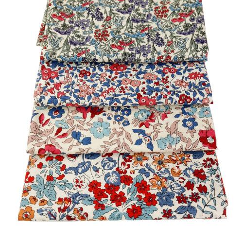 Liberty Cotton 4 x Fat Quarter Bundle Pack #18